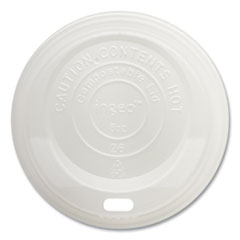 World Centric® Hot Cup Lids, Fits 8 oz Cups, White, 1,000/Carton