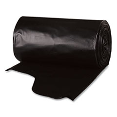 Berry Plastics Heavy-Duty Low-Density Wing Tie Contractor Bags, 55 gal, 3 mil, 35.75 x 53.88, Black, 15 Bags/Roll, 4 Rolls/Carton