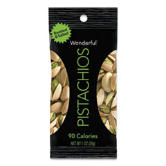 Paramount Farms® Wonderful Pistachios, Roasted and Salted, 1 oz Pack, 12/Box