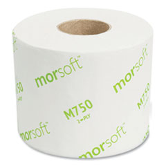 """Morcon Tissue Morsoft Controlled Bath Tissue, Septic Safe, 2-Ply, White, 3.9"""" x 4"""", 750 Sheets/Roll, 36 Rolls/Carton"""