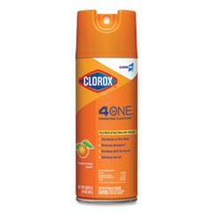 Clorox® 4-in-One Disinfectant and Sanitizer, Citrus, 14 oz Aerosol Spray, 12/Carton