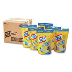 S.O.S.® Non-Scratch Soap Scrubbers, Blue, 8/Pack