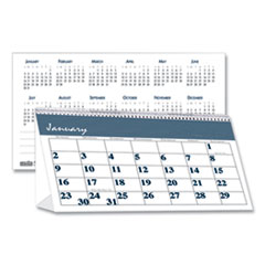 House of Doolittle™ Recycled Bar Harbor Desk Tent Monthly Calendar, 7 x 4.25, 2022