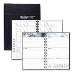 House of Doolittle™ Recycled Academic Weekly/Monthly Appointment Book/Planner, 8 x 5, Black, 2020-2021
