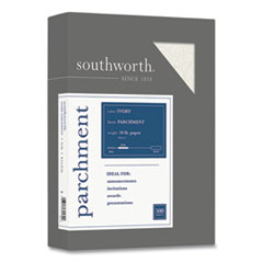 Southworth® Parchment Specialty Paper, 24 lb, 8.5 x 11, Ivory, 500/Ream