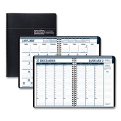 House of Doolittle™ Recycled Wirebound Weekly/Monthly Planner, 11 x 8.5, Black Leatherette, 2021