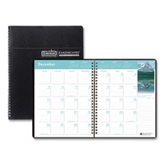 House of Doolittle™ Recycled Earthscapes Full-Color Monthly Planner, 11 x 8.5, Black, 2020-2022