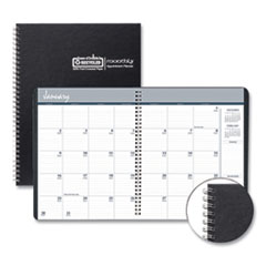 House of Doolittle™ One-Year Monthly Hard Cover Planner, 11 x 8.5, Black, 2020-2022