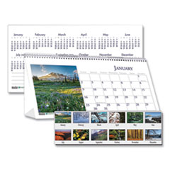 House of Doolittle™ Recycled Scenic Photos Desk Tent Monthly Calendar, 8.5 x 4.5, 2022
