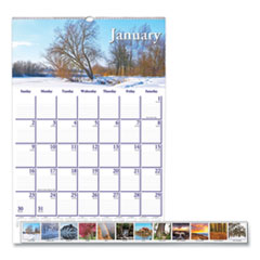 House of Doolittle™ Recycled Scenic Beauty Monthly Wall Calendar, 12 x 16.5, 2022