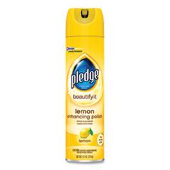Pledge® Furniture Polish, Lemon, 9.7 oz Aerosol Spray, 6/Carton
