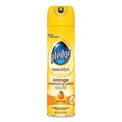 Pledge® Furniture Polish, Orange, 9.7 oz Aerosol Spray, 6/Carton