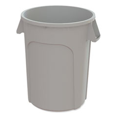 Impact® Value-Plus Containers, Low Density Polyethylene, 20 gal, Gray