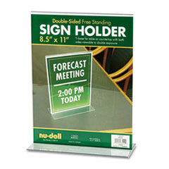 NuDell™ Acrylic Sign Holder, 8 1/2 x 11, Clear