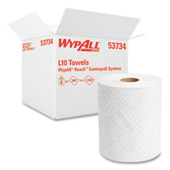 WypAll® Reach System Roll Towel, 1-Ply, 11 x 7, White, 340/Roll, 6 Rolls/Carton