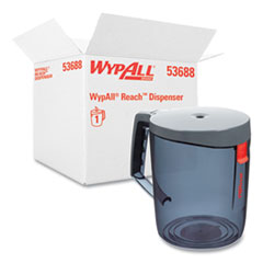 WypAll® Reach Towel System Dispenser, 9.5 x 7 x 8.75, Black/Smoke