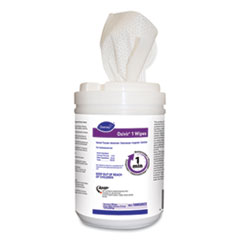 """Diversey™ Oxivir 1 Wipes, 6"""" x 7"""", 160/Canister, 12/Carton"""
