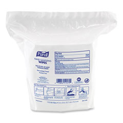 "PURELL® Hand Sanitizing Wipes, 5"" x 6"", White, Fresh Citrus Scent, 1,700/Refill Pouch, 4/Carton"