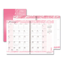 House of Doolittle(TM) Breast Cancer Awareness 100% Recycled Ruled Monthly Planner/Journal