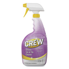 Diversey™ Crew Shower Tub and Tile Cleaner, Fresh Scent, 32 oz Spray Bottle, 8/Carton