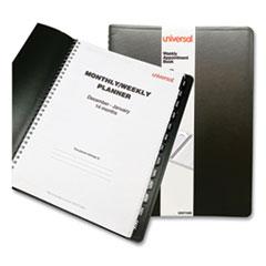 Weekly Planner, 11 x 8, Black, 2021