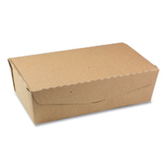 Pactiv EarthChoice OneBox Paper Box, 77 oz, 9 x 4.85 x 2.7, Kraft, 162/Carton