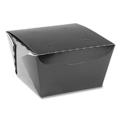 Pactiv EarthChoice OneBox Paper Box, 46 oz, 4.5 x 4.5 x 3.25, Black, 200/Carton
