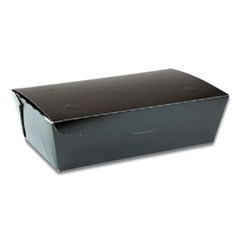Pactiv EarthChoice OneBox Paper Box, 77 oz, 9 x 4.85 x 2.7, Black, 162/Carton
