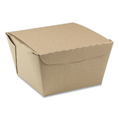 Pactiv EarthChoice OneBox Paper Box, 46 oz, 4.5 x 4.5 x 3.25, Kraft, 200/Carton