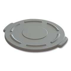 "Impact® Value-Plus Gator Container Lids, For 20 gal, Flat-Top, 20.4"" Diameter, Gray"