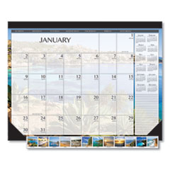 House of Doolittle(TM) 100% Recycled Earthscapes(TM) Seascapes Desk Pad Calendar