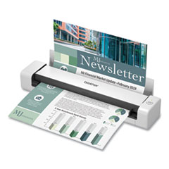 Brother DS-740D Duplex Compact Mobile Document Scanner, 600 dpi Optical Resolution, 1-Sheet Duplex Auto Document Feeder