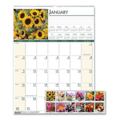 House of Doolittle(TM) Earthscapes(TM) 100% Recycled Floral Monthly Wall Calendar