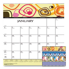 House of Doolittle™ 100% Recycled Geometric Wall Calendar