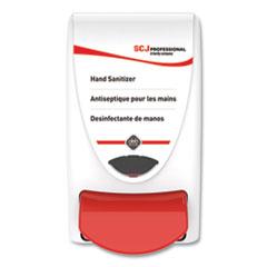 SC Johnson® Hand Sanitizer Dispenser, 1 Liter Capacity, 4.92 x 4.6 x 9.25, White, 15/Carton