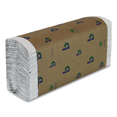 Boardwalk® Boardwalk Green C-Fold Towels, Natural White, 10 1/8 x 12 3/4, 150/Pk, 16 Pks/Ct