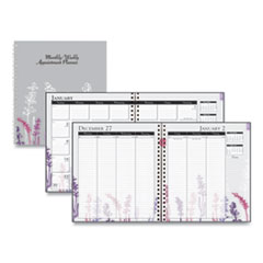House of Doolittle™ 100% Recycled Wild Flower Monthly Weekly Planner, 9 x 7, Wild Flowers, 2021