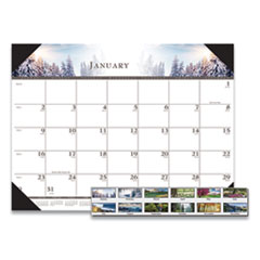 House of Doolittle(TM) 100% Recycled Full-Color Photo Monthly Desk Pad Calendar