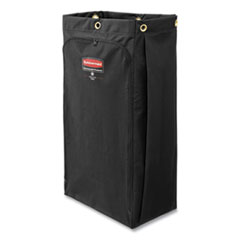 "Rubbermaid® Commercial Fabric Cleaning Cart Bag, 26 gal, 17.5"" x 33"", Black"