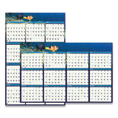 House of Doolittle™ Recycled Earthscapes Sea Life Scenes Reversible Wall Calendar, 24 x 37, 2022