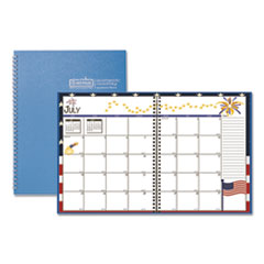 House of Doolittle™ Seasonal Monthly Academic Planner, 10 x 7, Light Blue, 2021-2022