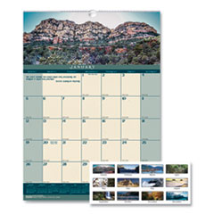 House of Doolittle™ Recycled Landscapes Monthly Wall Calendar, 12 x 16.5, 2022