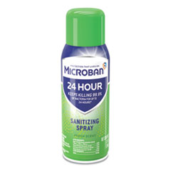Microban® 24-Hour Disinfectant Sanitizing Spray, Fresh Scent, 12.5 oz Aerosol Spray, 6/Carton