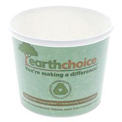 """Pactiv EarthChoice Compostable Container, Medium Soup, 12 oz, 3.63"""" Diameter x 3.63""""h, Teal, 500/Carton"""