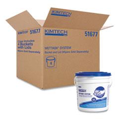 Kimtech™ WetTask Wiper Bucket, White/Blue, 4/Carton
