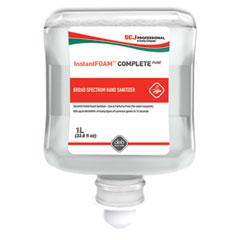 SC Johnson® InstantFOAM Alcohol Foam Hand Sanitizer for Manual Dispensers, 1 L Refill, Fragrance-Free, 6/Carton