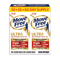 Move Free® Ultra Triple Action with UCII Twin Pack, 60 Tablets