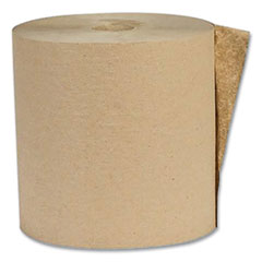 Eco Green® Recycled Hardwound Paper Towels, 1-Ply, 1.6 Core, 7.88 x 800 ft, Kraft, 6 Rolls/Carton