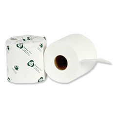 """Eco Green® Recycled Two-Ply Standard Toilet Paper, Septic Safe, White, 4.25"""" Wide, 500 Sheets/Roll, 80 Rolls/Carton"""