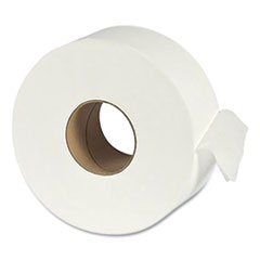 """Eco Green® Recycled One-Ply Jumbo Bathroom Tissue, Septic Safe, White, 3.5"""" x 3,000 ft, 12 Rolls/Carton"""